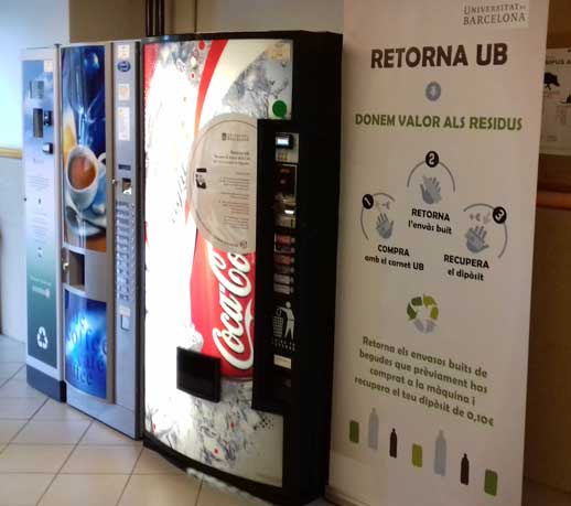 Máquina compactadora de Serunión Vending