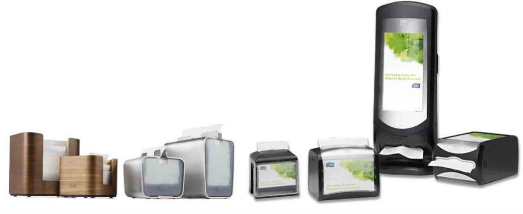 La gama completa de servilleteros XpressNap de Tork