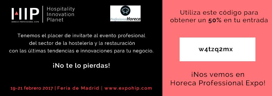 Código descuento de Profesional Horeca para asistir a HIP