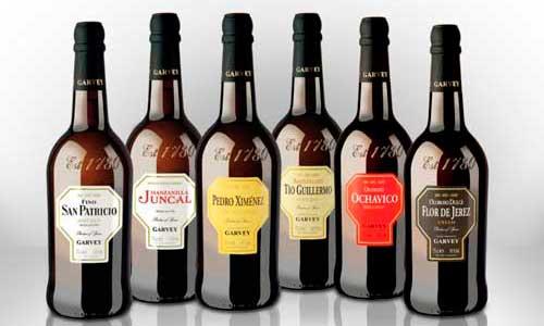 La gama de vinos de Jerez de Garvey