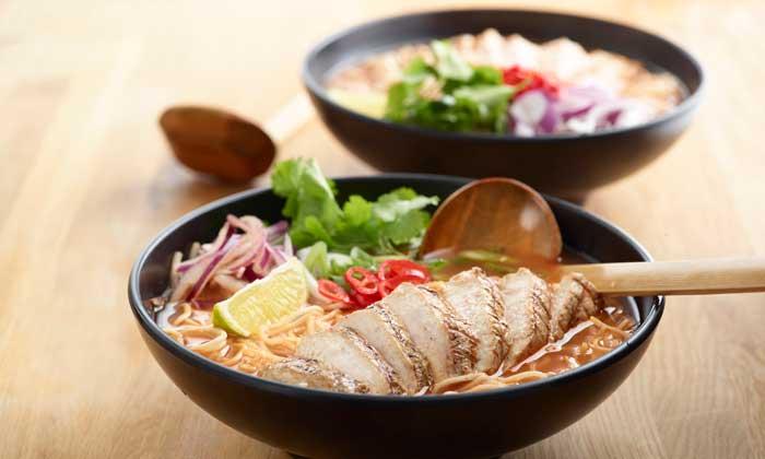 Chilli chicken ramen, uno de los platos estrella de Wagamama