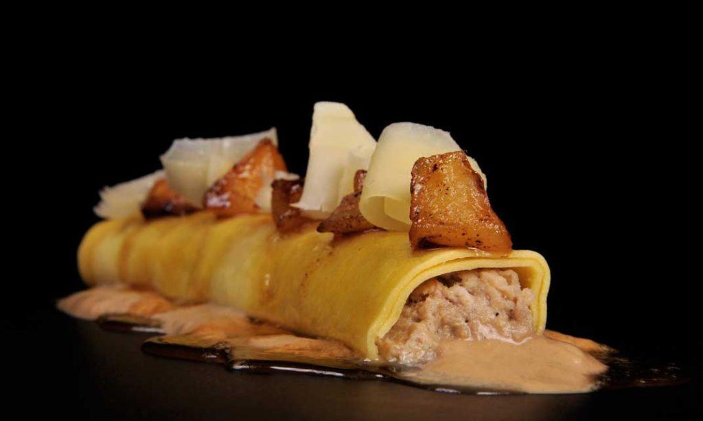 Canelón de confit de pato y foie, de Innogourmet