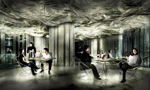 El espectacular look galáctico del restaurante Enigma, en tons grises