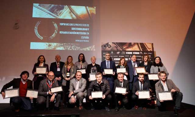 Todos los galardonados de los III Premios Re Think Hotel, en Fitur