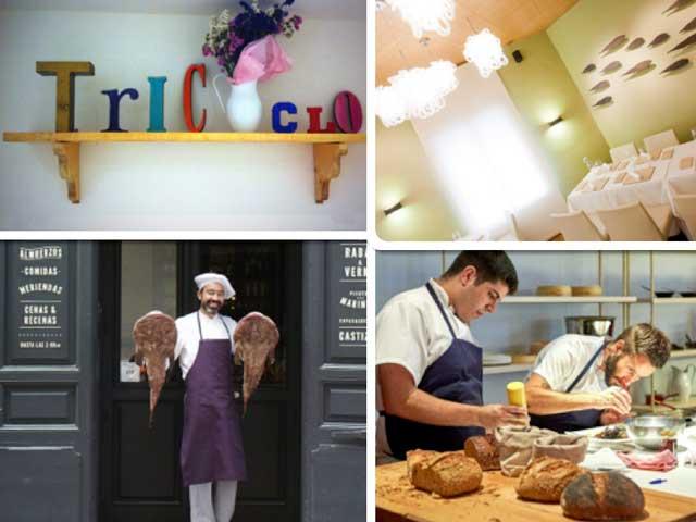 Imágenes de los restaurantes TriCiclo, Aponiente, La Carmencita y Al Trapo