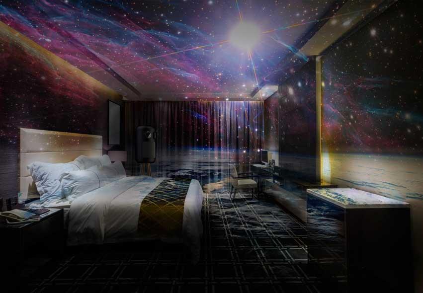 Habitación de hotel con la tecnología de Broomx Technologies