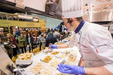 Platos preparados por el chef Juan Carlos Fernández con el horno XS de Rational, en el Food Truck Forum