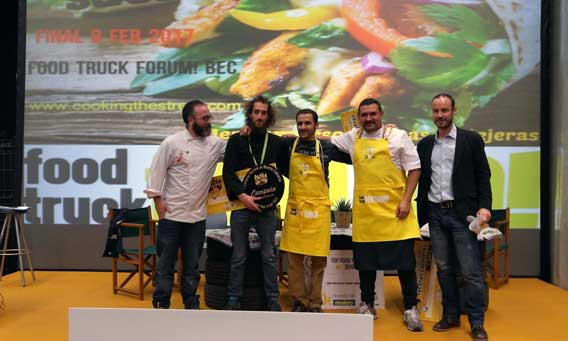 Los ganadores del concurso Cooking The Street