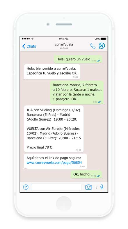 Chatbox en CorreYVuela