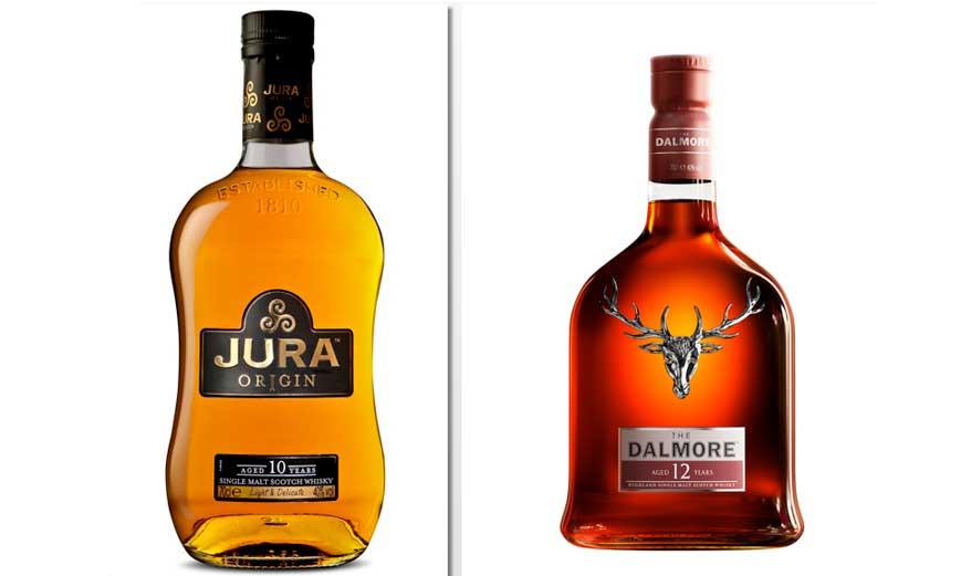 Los whiskies The Dalmore y Jura