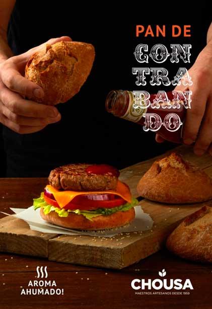Pan de hamburguesa con sabor ahumado, de Chousa