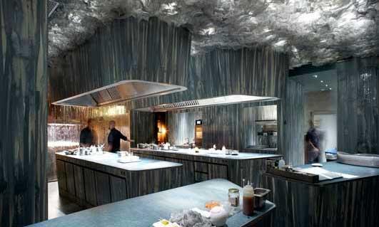 Interior del restaurante Enigma, de Albert Adrià