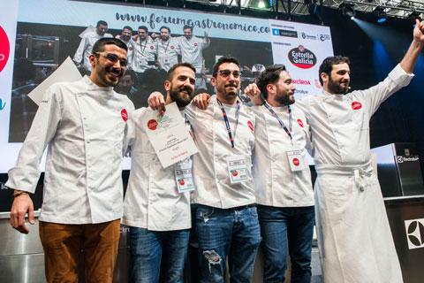 Los finalistas al galardón Cociñeiro Novo 2017