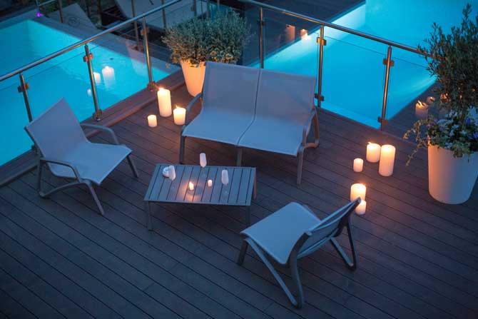 Muebles de terraza Sunset, de Grosfillex