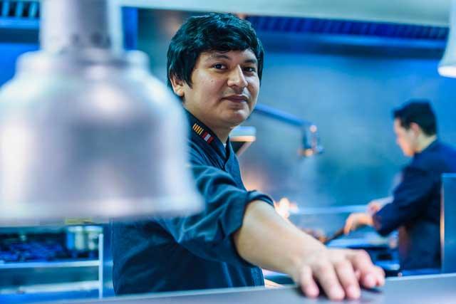 El chef Pablo Ortega, en Totora