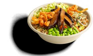 Bol de quinoa y vegetales en el restaurante Eatsa