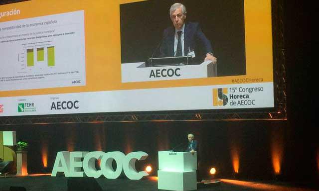Javier Campo, en su presentación en el XV Congreso Horeca de Aecoc
