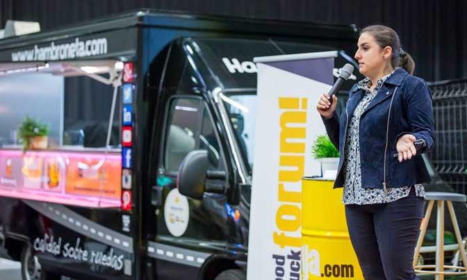 Leire Pérez, en su ponencia del Food Truck Forum