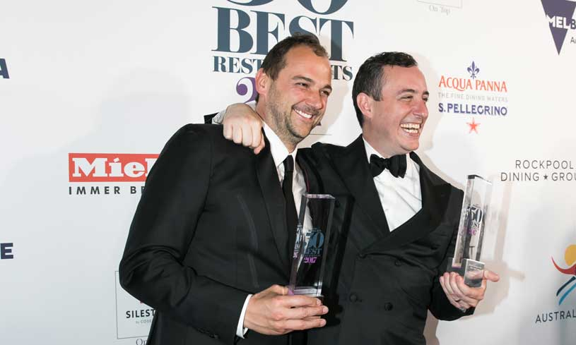 El chef suizo Daniel Humm y Will Guidara, copropietarios de Eleven Madison Park