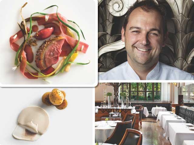 Varios platos de Eleven Madison Part, su chef Daniel Humm y vista de la sala del restaurante