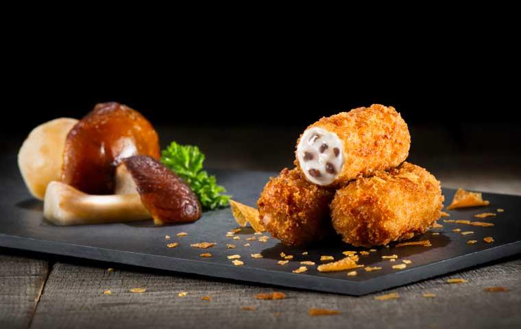 Croquetas de hongos de La Cocina de Senén