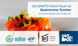 Cartel del Foro Mundial de Turismo Gastronómico OMT