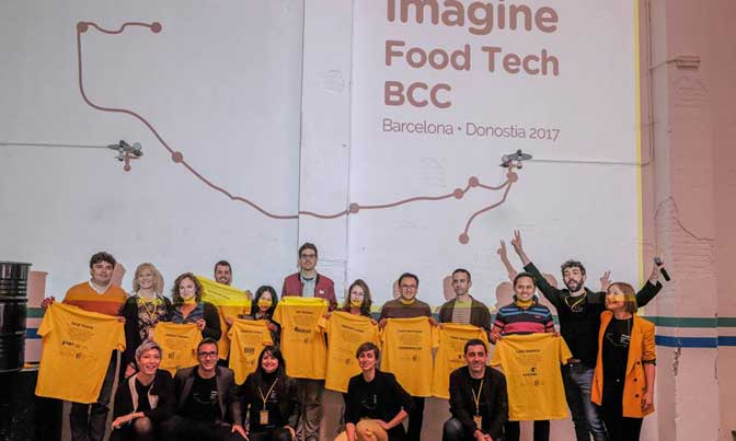 Los participantes en la ruta Imagine Food Tech-BCC