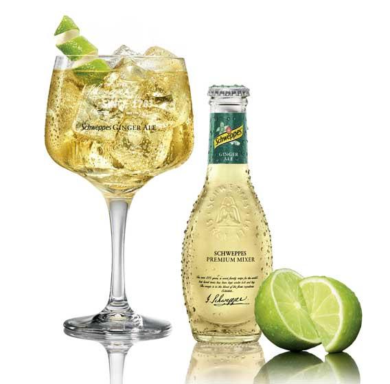 El Ginger Ale premium de Schweppes