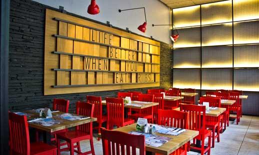 Interior de un local Tony Roma's