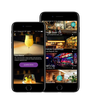 App Bida en el móvil
