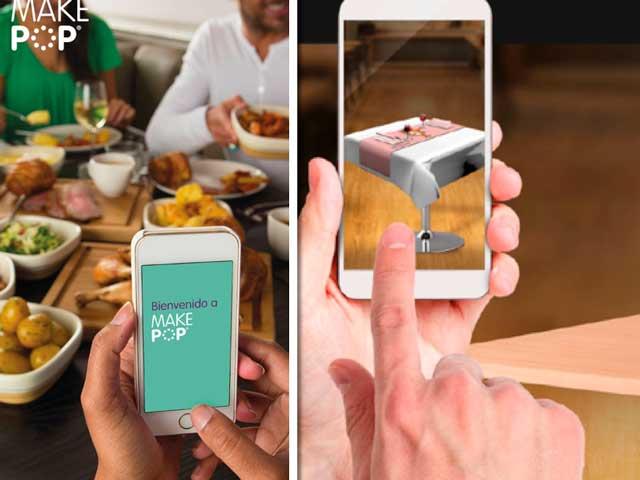 Imágenes de las apps MakePop y LookBook Horeca