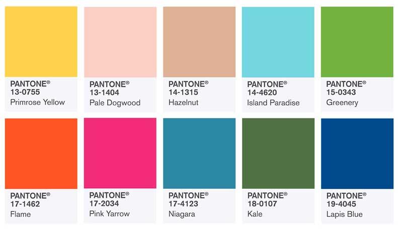 El pantone de los colores más refrescantes para 2017