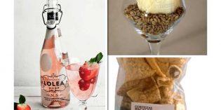 Visto en Gourmets: helado de cerveza, cortezas de bacalao, sangría rosada