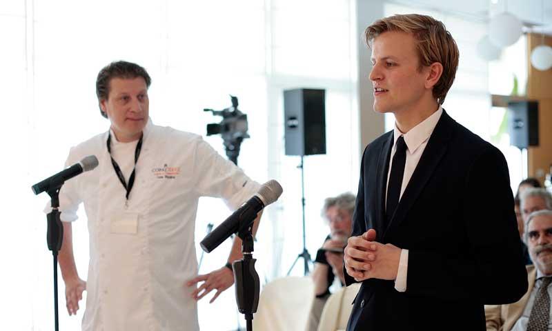El chef Leon Mazairac y el sumiller Goos van den Berg, de Holanda, ganadores de la Copa Jerez 2017