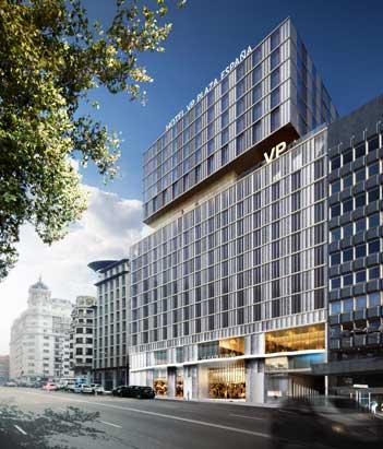 La fachada del hotel VP Plaza España