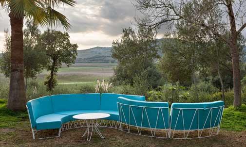 El sofá de exterior Lagarto de Isimar