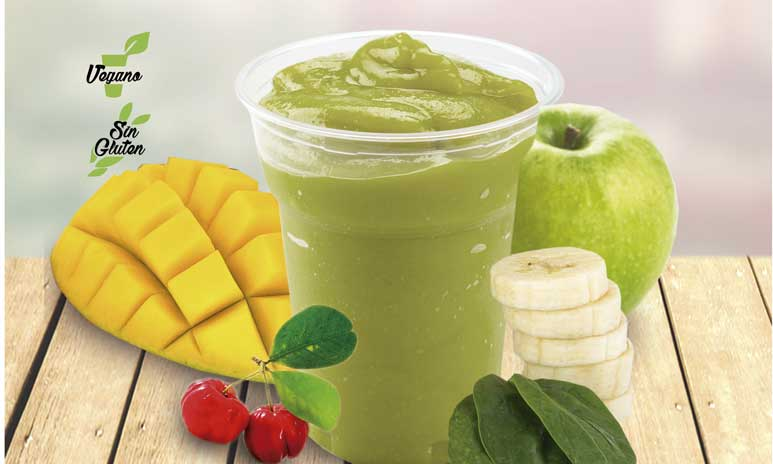 El smoothie Green de Natural Drinks