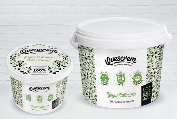 El yogur culinario de Quscrem se presenta en formatos de 500 gr y 2 kg.