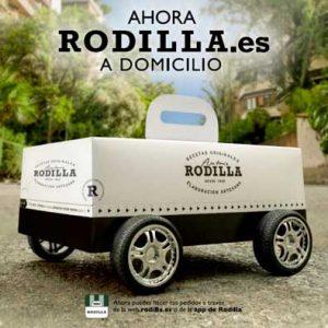 Así anuncia Rodilla su servicio de entrega a domicilio