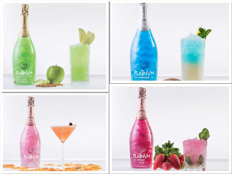 Los cócteles Green Adventure, Tropical Dream, Infonity Heart y Passion Mojito, de Tavasa