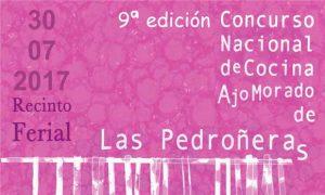 Cartel del Concurso de Cocina con Ajo Morado de Las Pedroñeras