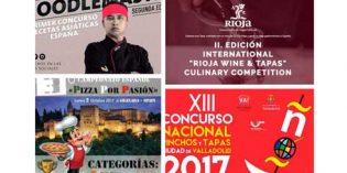 Pinchos de Valladolid, Rioja & Tapas, recetas asiáticas, Pizza por Pasión: 4 concursos profesionales de cocina