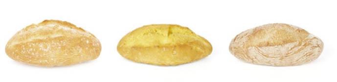 Mini bollos Chousa de trigo, maíz y espelta,