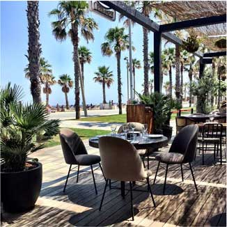 Terraza del hotel W de Barcelona
