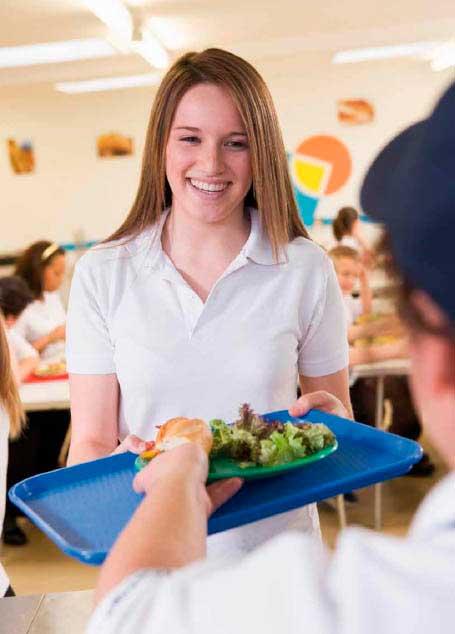 Bandeja para comedor escolar de Araven