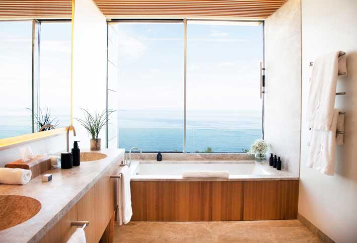 baño del hotel Akelarre