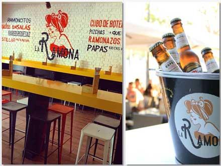 Loca La Ramona y cubo de cerveza