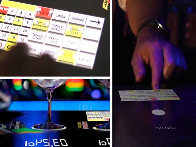 La barra de bar digital Copa Perfecta