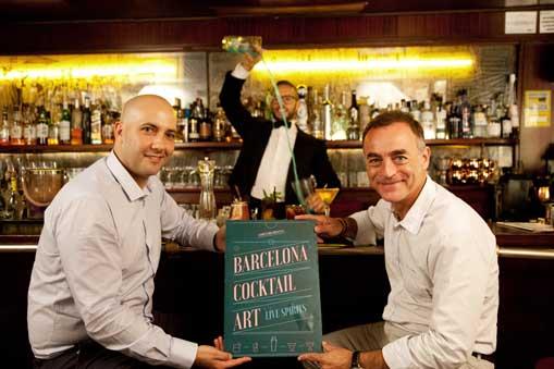 George Restrepo, director de Coctelería Creativa y coorganizador de Barcelona Cocktail Art, y Antonio Valls, director general de Alimentaria Exhibitions, durante la presentación del nuevo espacio