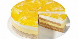 Pastel crujiente de yogur y mango de Erlenbacher: un postre refrescante… y súper-ligero